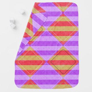 Stripes, Diamonds, Spot Pattern by Shirley Taylor Receiving Blanket