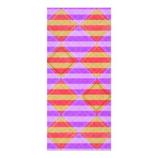 Stripes, Diamonds, Spotted Pattern Rack Card