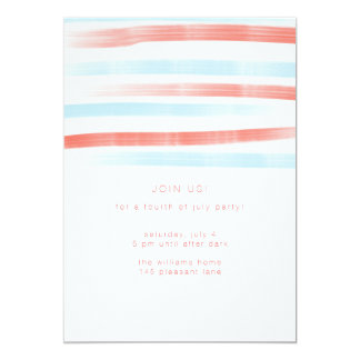 Stripes Fourth of July Invitation