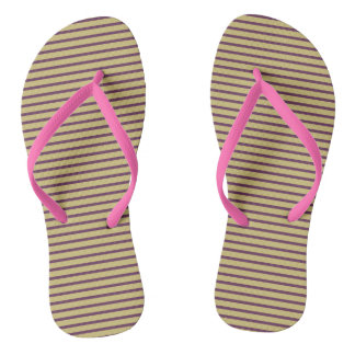 Stripes Girly Pink Cute Simple Trendy Stylish Chic Flip Flops
