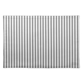 Stripes - Gray and Light Gray Placemat