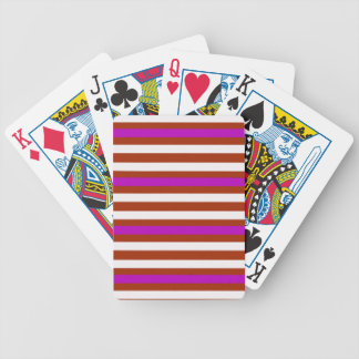 Stripes Horizontal Purple Red White Bicycle Playing Cards