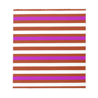 Stripes Horizontal Purple Red White Notepad