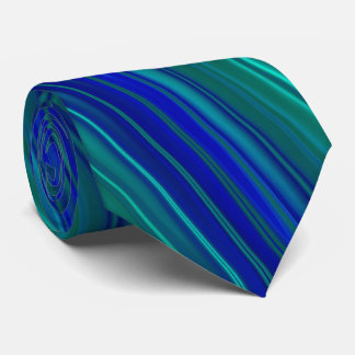 Stripes in blue shades tie