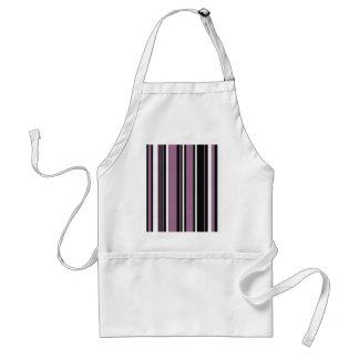 Stripes in Lavender Purple with Black White Apron
