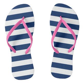 Stripes in Navy | Sandals
