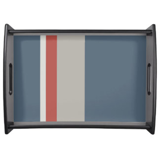 STRIPES Large Serving Tray, Black Serving Tray