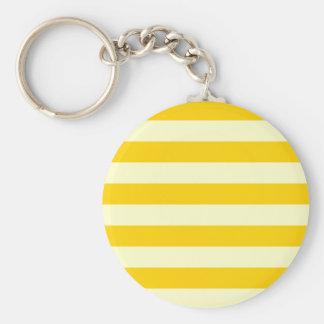 Stripes - Light Yellow and Dark Yellow Key Chain