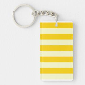 Stripes - Light Yellow and Dark Yellow Acrylic Keychains
