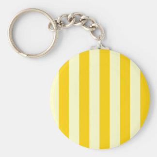 Stripes - Light Yellow and Dark Yellow Keychain