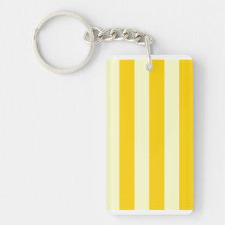 Stripes - Light Yellow and Dark Yellow Acrylic Key Chains