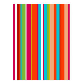 Stripes Line Art Fashion Passion, Green, Pink, Sty Post Cards