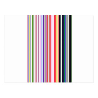 Stripes Line Art Fashion Passion, Green, Pink, Sty Postcard