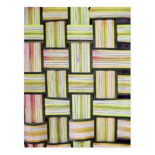Stripes Line Art Fashion Passion, Green, Pink, Sty Postcards