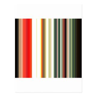Stripes Line Art Fashion Passion, Green, Pink, Sty Postcard
