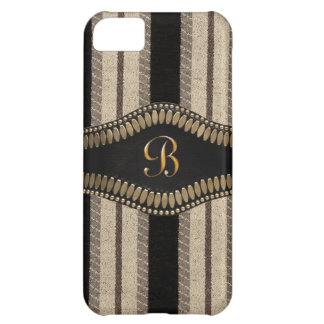 Stripes,Metal initial or name IPhone 5 Case