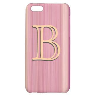 Stripes monogram custom iPhone 5C cover