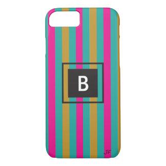 Stripes Monogram iPhone 8/7 Case