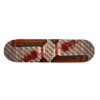 stripes musical guitar london telephone booth skateboard deck