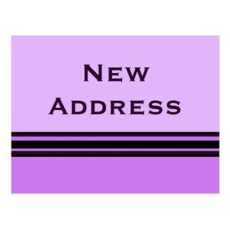 stripes New Address Postcard
