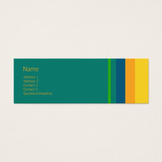 Stripes No. 0065 Mini Business Card