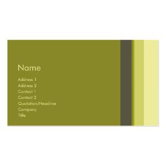 Stripes No. 0108 Business Cards