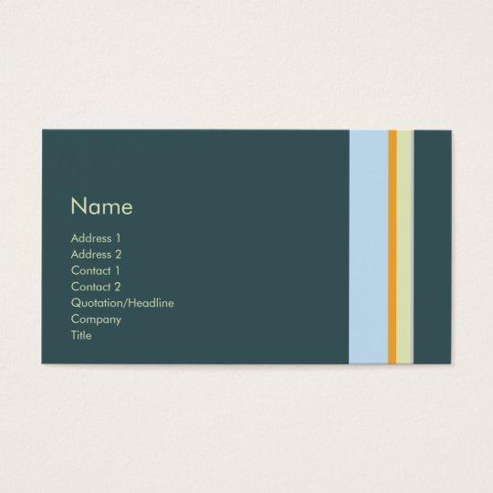 Stripes No. 0109 Business Card