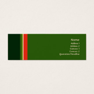 Stripes No. 0160 Mini Business Card