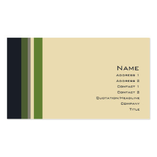 Stripes No. 0164 Pack Of Standard Business Cards