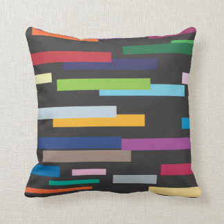 Stripes of Colour American Mojo Pillow/Cushion Throw Pillow