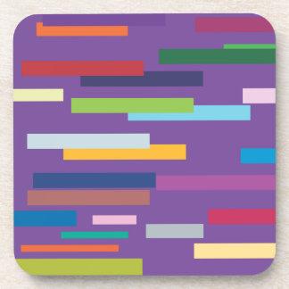 Stripes of Colour Set of Six Coasters