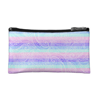 Stripes of pastel harmony cosmetic bag