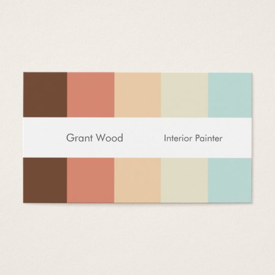 Stripes Palette Business Card