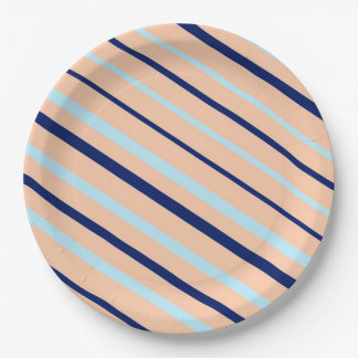 Stripes Paper Plate