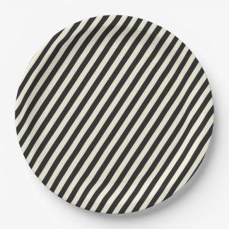 Stripes Paper Plate