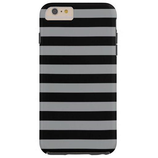 Stripes (Parallel Lines) - Black Gray Tough iPhone 6 Plus Case
