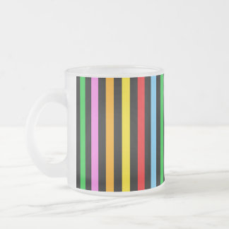 Stripes (Parallel Lines) - Red Blue Green Pink Frosted Glass Mug