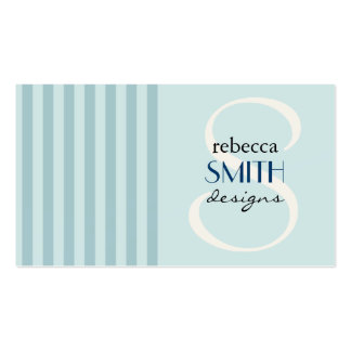 Stripes (Parallel Lines, Striped Pattern) - Blue Business Card Template