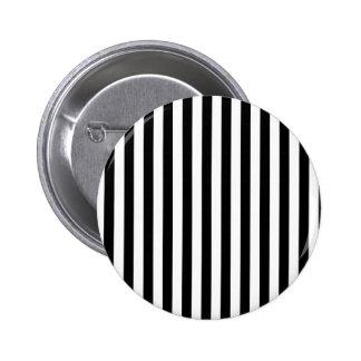 Stripes Parallel Lines - White Black Button