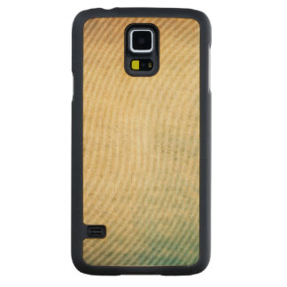Stripes pattern background carved maple galaxy s5 case
