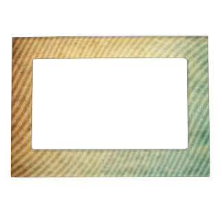 Stripes pattern background magnetic frame