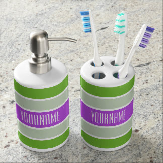 Stripes Pattern custom bathroom set