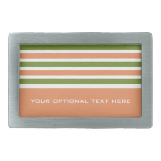 Stripes Pattern custom belt buckle
