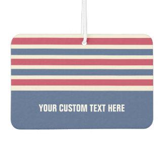 Stripes Pattern custom car air freshner