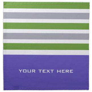 Stripes Pattern custom cloth napkins