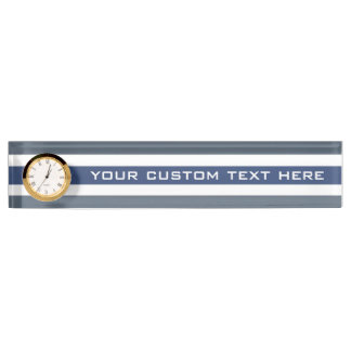 Stripes Pattern custom desk name plate