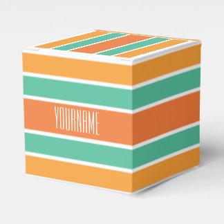 Stripes Pattern custom favor box
