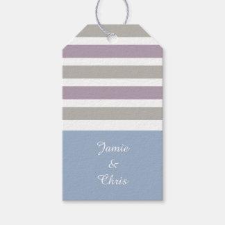 Stripes Pattern custom gift tags