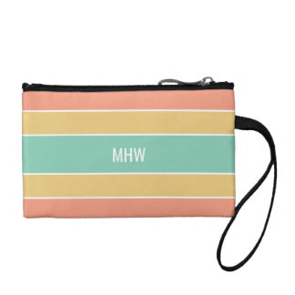 Stripes Pattern custom monogram accessory bags