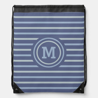 Stripes Pattern custom monogram backpack